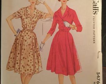 Vintage McCall's Plus Size Pattern #5476