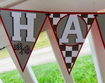 Custom Race Car Banner, Custom Race Car Birthday Banner, Race Car Birthday Banner, Cars Birthday Banner