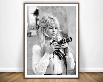 Brigitte Bardot Print * Fashion Photography Prints Brigitte Bardot Poster French Poster Model Brigitte Bardot Art French Provincial Vintage