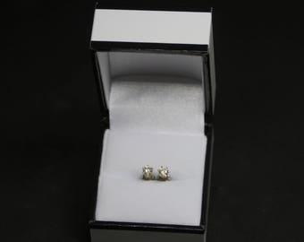 Handmade zirconia stud earrings