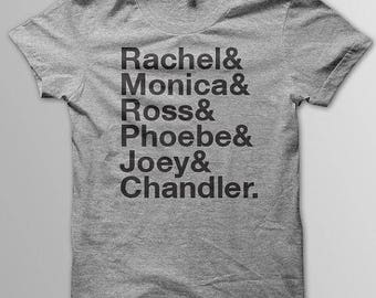 Friends TV Show Cast Shirt T-Shirt (3) Colors Available - Short Sleeve and Long Sleeve T-Shirts