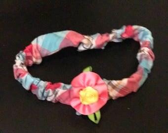 Fabric Headband with Ribbon flower