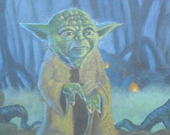 Star Wars Yoda Acrylic painting