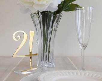 Whimsical Mirror Table Numbers | Wedding Table Numbers | Party Decor | Standing Numbers | Centerpieces | Acrylic |