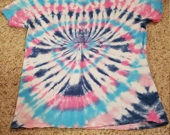 Premade Medium Cotton Candy Tie Dye Shirt