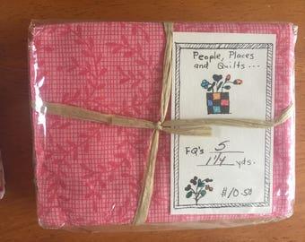5 Floral Fabric Fat Quarters