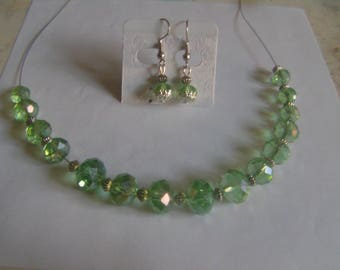 set made with faceted Crystal beads
