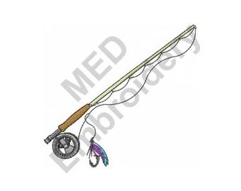 Fishing Rod - Machine Embroidery Design