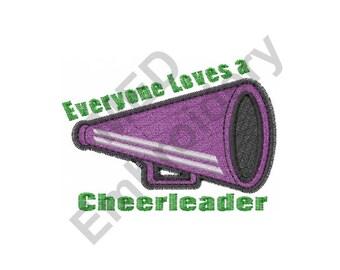 Cheerleader Megaphone - Machine Embroidery Design