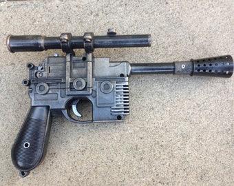 Star Wars Han Solo DL-44 Blaster pistol light/soundFX handpainted