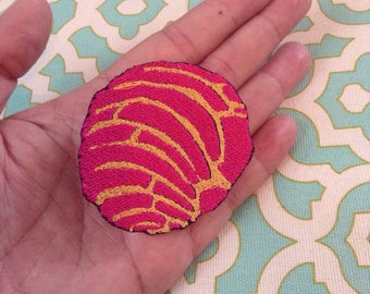 Pink Concha Iron On Patch