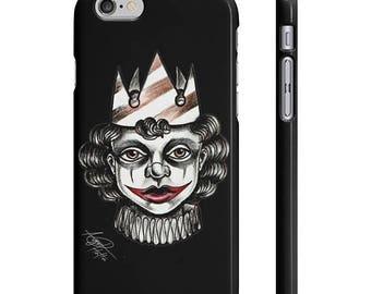 Sad Joker Boy - Black - Iphone And Galaxy - Tattoo Inspired Art on Phone Case