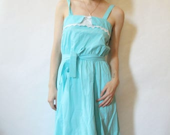 50s Baby Blue Sundress XS S