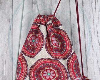 Backpack//Turn bag//drawstring backpack//Back Pack//gift for you
