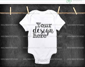 Baby Onesie Mockup, Baby Mockup, Onesie Mockup, Bodysuit Mockup, Baby Clothes Mockup, Baby Onesie , White Bodysuit Mockup, Mockup