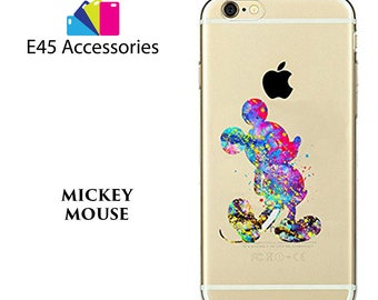 MICKEY MOUSE Disney Watercolour Hard Case for iPhone 5S 5 SE, iPhone 6S 6 or iPhone 7