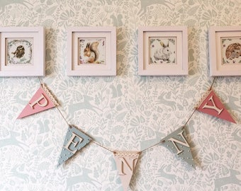 Bunting/Personalised Bunting/Traditional Bunting/Party Bunting/Birthdays Decorations/Christenings Gift/New Baby Gift/Nursery Decor
