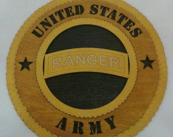Army Ranger Wall Plaque Wooden Model