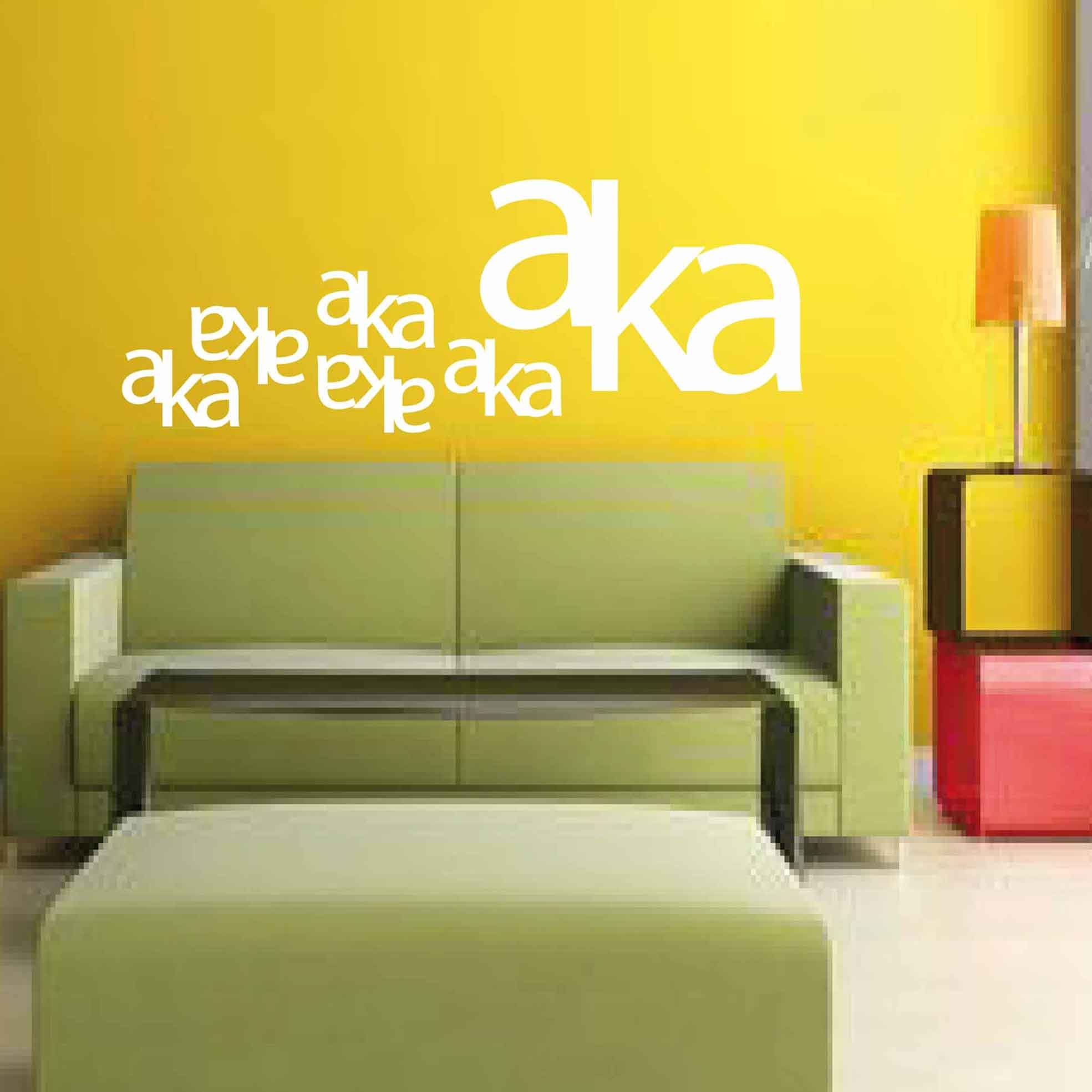 Aka - Wall sticker, wall decor, wall art, door sticker, glass ...