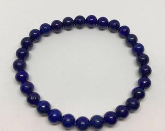 Lapis Lazuli Stretch Bracelet - 6mm beads