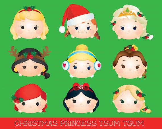Disney Tsum Tsum Clipart 9: Princess Tsum Tsum Clipart Tsum Tsum Graphics Disney Tsum