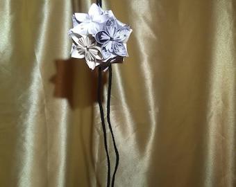 Black and White Blossom Kusudama