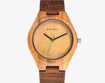 Watch in natural wood, handmade
