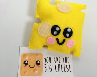 Kawaii Hanging Cheese felt Plushie