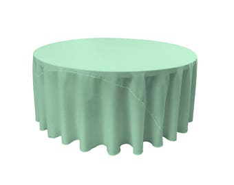 TEXTILES L.A. Polyester Poplin Round Tablecloth, 108-Inch, (mint)