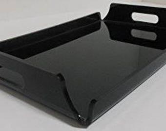 20 x 10 x 5 black plexiglass tray
