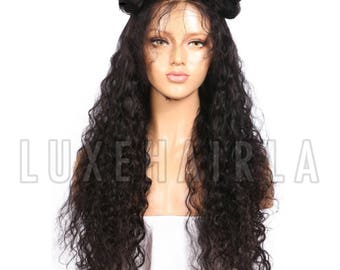 Pre-Plucked Brazilian Full Lace Kinky Curly Human Hair with Baby Hairs Luxury Wig by LUXEHAIRLA