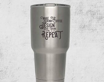 YETI Style Tumbler/Ctrl Z/ Custom Tumbler Graphic Design Engraved Tumbler with lid/ Gift Ideas/ 30 ounce yeti/ stainless steel/ Personalize