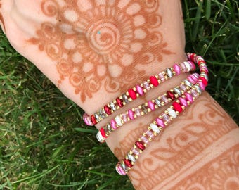 Ladylike Beaded Wrap Bracelet
