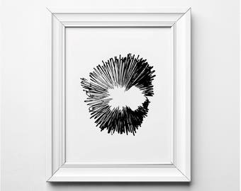 Abstract Art, Abstract Art Print, Black and White Art, Black and White Illustration, Minimalist Wall Art, Minimalist Art Print