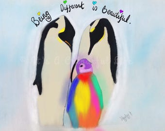 Being different is beautiful Penguins (free delivery UK)
