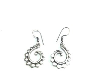 German silver oxodise plated earring