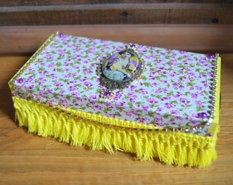 Yellow and purple baroque jewelry box