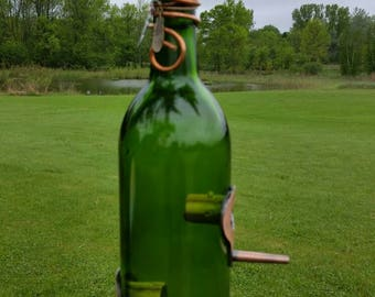 Wine Bottle Birdfeeder