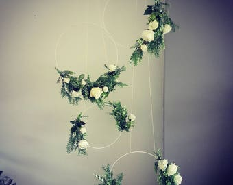 Wedding wheel, wedding hoop, wedding decor, floral hoop, foliage hoop, floral wheel, wedding decor, floral decor, flower hoop, flower wheel
