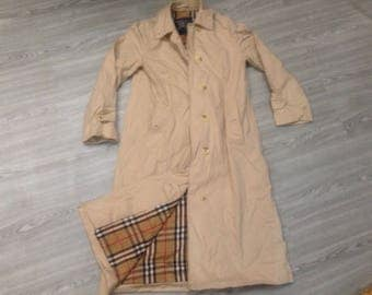 Sale vintage 80s Burberrys Made In England trench coat