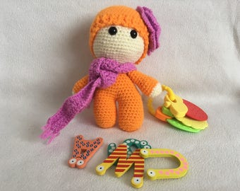 Amigurumi Winter orange baby