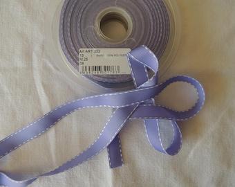 Grosgrain Ribbon stitched background stitching purple Violet white width 1.5 cm