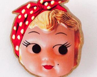 Kewpie Queen brooch - war effort