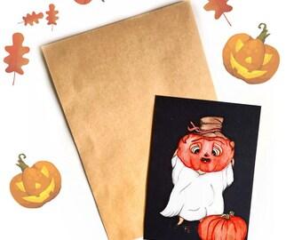 Halloween pug card