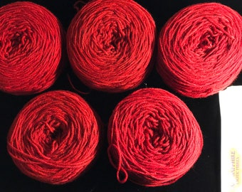 Red 100% 4-Ply Cashmere Yarn