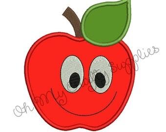 Happy Apple Applique Design