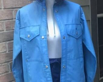 Whale Rain Jacket - Blue Lot One of Boston - Size M - Vintage