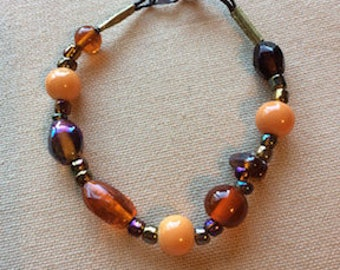 Orange & Topaz Toned Bracelet