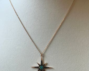 North star sterling silver necklace