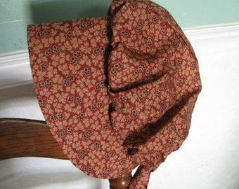 Prairie bonnet, 3 to 6 years old, pioneer, frontier, Little Girls